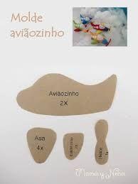Resultado de imagem para molde de avião de feltro