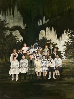 The Class of Marie Courrege, 1972, oil on canvas, 36x28 inches