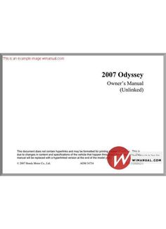 2002 honda odyssey owners manual book owners manuals pinterest fandeluxe Gallery
