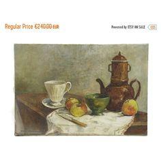 SULLA pittura francese caffè ancora la vita di vendita. Cucina rustica... ($192) ❤ liked on Polyvore featuring home and home decor