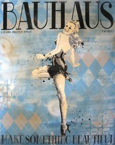"""Bauhaus"" by Daniel Bombardier. Mixed Media on Wood Panel Street Artists, Something Beautiful, Denial, Wood Paneling, Bauhaus, Painting On Wood, Tinkerbell, Graphic Art, Disney Princess"