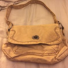 Old Navy purse Small, pale yellow distressed purse. Old Navy Bags Mini Bags