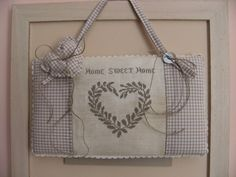 Home sweet home House Blessing, Cross Stitch Pictures, Cross Stitch Heart, Sweet Home, Love Home, Monochrome, Reusable Tote Bags, Shabby, Crafts