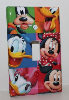 Would love this for Kylie!! Disney Characters Mickey Minnie Mouse Childrens Resin Switchplate Light Cover on Etsy, $15.00