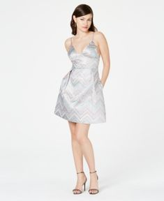 Laundry by Shelli Segal Printed Metallic A-Line Dress - Lilac Lilac Dress, Laundry By Shelli Segal, Plus Size Activewear, Review Dresses, Fit Flare Dress, Baby Clothes Shops, Trendy Plus Size, Dress Patterns, Dresses Online