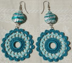 Crochet earring crochet earring jewelry large by lindapaula, €11.00