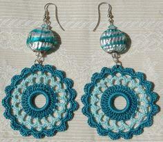 Crochet earring crochet earring jewelry large by lindapaula, €11.00