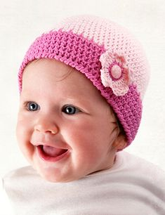 Free Crochet Pattern Hat Dk : Hats for Girls ~ Crocheted on Pinterest Crochet Baby ...