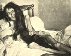 The horrifying picture is not a still shot from a horror movie but rather is a hospital-room shot of Blanche Monnier, a girl who was kept captive for 24 yrs in a padlocked shuttered room where she was forced to live amidst pests, rats, human excrement & filth.  Her discovery occurred on May 23, 1901 after the Paris Attorney General received an anonymous letter indicating a woman was being held captive in a home located on 21 rue de la Visitation street in wealthy neighborhood of Poiters…
