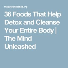 36 Foods That Help Detox and Cleanse Your Entire Body   The Mind Unleashed