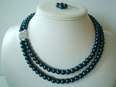 Two Strand Dark Peacock Pearl with Square by delicatecreationsbym, $28.00