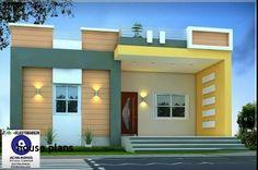 Simple House Plans Free Elegant 800 Sqft Single Floor Modern Home Design Single Floor House Design, Modern House Floor Plans, House Front Design, Small House Design, Small House Plans, Modern House Design, Home Outer Design, Independent House, Home Stairs Design