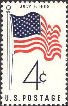 Commemorative Stamps, Old Stamps, Old Glory, God Bless America, Stamp Collecting, Fourth Of July, Postage Stamps, American Flag, Artwork
