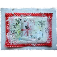 art postal tissu avec les tampons & encres http://la-compagnie-des-elfes.fr/