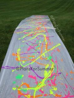 Paint slip n' slide: everyone wear white!