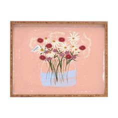 Joy Laforme A Gift for my Love Rectangular Tray   DENY Designs Home Accessories