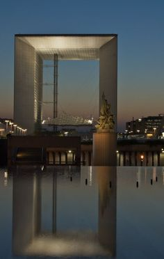 La Grande Arche in La Defense of Paris, France