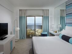 rooms - aqua blue, brown , beige