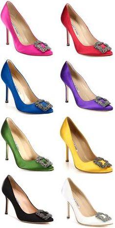 a0906d9b2cade 'Hangisi' Satin Crystal Toe Pump - Various Colors to Choose From Botas,  Zapatillas