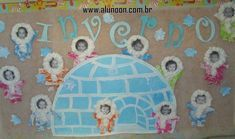 24 Ideias de Mural para Inverno - Aluno On K Crafts, Crafts For Kids, Dramatic Play Themes, Polo Norte, Winter Bulletin Boards, Winter Project, Montessori Activities, Middle School Art, Baby Winter