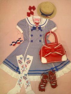 Angelic Pretty Sailor Lolita Marine Stripped Story  http://sailorlolita.tumblr.com/page/14