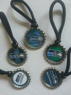 Seattle Seahawks Theme Gift Sets, Wine Charms, Cupcake Toppers