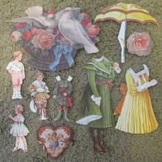 Antique Paper Doll Cutouts by Ollieburger on Etsy, $6.00