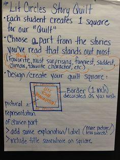 lit circles class story quilt