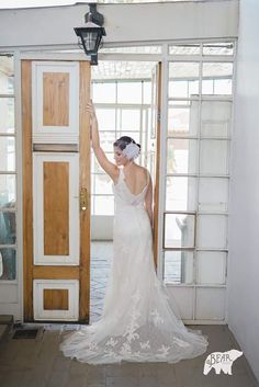 Bride Annette got married in our stunning Riley by Modeca wedding gown.