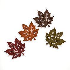 felt leaf coasters