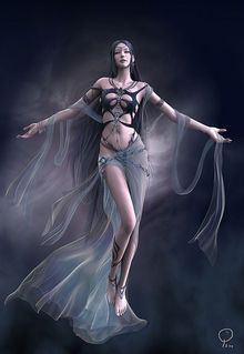 NYX was the goddess of the night, one of the ancient Protogenoi (first-born elemental gods). In the cosmogony of Hesiod she was born of Air (Khaos), and breeding with Darkness (Erebos) produced Light (Aither) and Day (Hemera), first components of the primeval universe. Alone, she spawned a brood of dark spirits, including the three Fates, Sleep, Death, Strife and Pain. Nyx was a primeval goddess usually represented as simply the substance of night: a veil of dark, a veil of mist