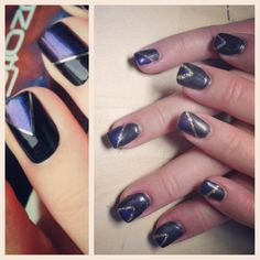 Rock out to your fav heavy metal bands with these metallic #gelnails