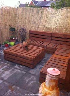20 Ideas for Pallet Patio Furniture | Pallet Ideas by Pallet Ideas