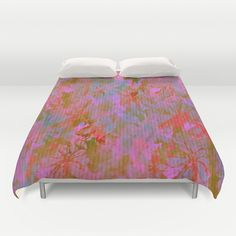 Day Time Floral Abstract Duvet Cover by Judy Palkimas
