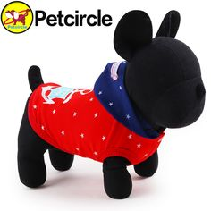 2017 petcircle new arrivals pet dog clothes star navy dog hoodie spring cotton dog coats for chihuahua size XXS-L pet products