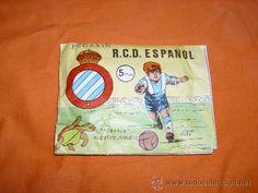 Sobre sorpresa PEGASIN RCD ESPAÑOL/RCD ESPANYOL Hobby-plast,Montaplex,Esjusa años 70 - Foto 1