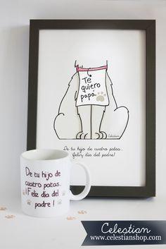 Y tú, ¿conoces a un auténtico papá perruno/gatuno? #perro #gato #padre #diadelpadre #regalo #pinterest