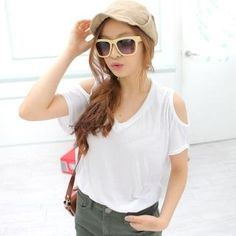 Cocopop  Cut Out Sleeve T-Shirt
