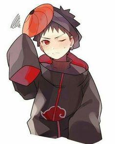 Cutie Obito in Akatsuki cloak and Tobi mask! Naruto Shippuden Sasuke, Naruto Kakashi, Anime Naruto, Otaku Anime, Naruto Cute, Anime Guys, Hinata Hyuga, Anime Chibi, Kawaii Anime