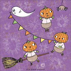 Make it in Design | Ella Elron-Breitman | #Halloween Pattern | http://makeitindesign.com/blog/2015/10/28/spooky-showcase-of-pattern-part-1/