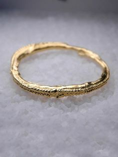Brooklyn Heavy Metal Gold Tentacle Skinny Bangle