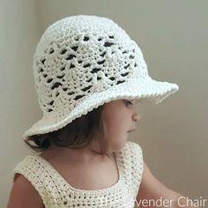 Vintage Sun Hat (Infant - Child) Crochet Pattern - The Lavender Chair