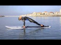 YOGA & PiLATES on SUP - Surf Board Fitness -Stand up Paddling - YouTube