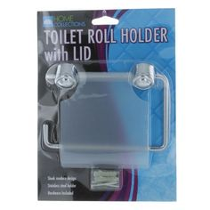 Toilet Roll Holder With Lid Stainless Steel Bathroom Tissue Lavatory TP Cover #bathroomremodeling