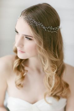 Delicate Pearl Headband Wedding Headband Hair, $145