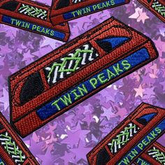Twin Peaks VHS Retro Throwback Iron On Patch Horror Patch Series