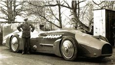 Sir Malcolm Campbell with his new 'Bluebird' - 1933