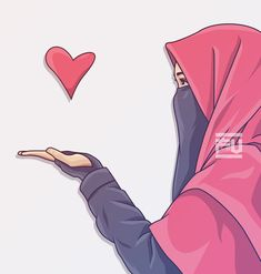 Drawing Cartoon Faces, Cartoon Pics, Cute Muslim Couples, Muslim Girls, Caricature, Hijab Drawing, Cute Love Pictures, Muslim Hijab, Hijab Niqab