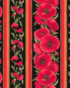 Tuscan Poppies - Amore Blossoms Stripe - Quilt Fabrics from www.eQuilter.com