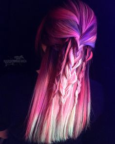 Neon hair Neon electric Pulpriot Braids